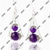 fashion jewelry amethyst earring 8mm/10mm beads