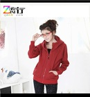 girls red zip up hoodie