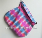 fashion colourful stripey tie dye cotton bag