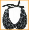 Fashion jewelry tie collar for garment accessory