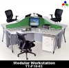 Three seats modern office workstation YT-P18-02