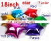 """Solid Plain foil balloons , Assorted Solid Color Plain Colour 18"""" Round Shaped Foil mylar Balloon"""