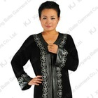 (KJ-WAB6021) High Quality Black abaya Hight qulity crepe and Lace women abaya