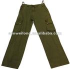 Fashion cargo twill denim pants,wash long pants