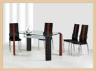Glass dining set XYS-010