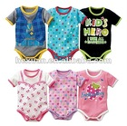 6 designs mixed,Short sleeve romper baby's romper, boy's romper, girl's romper,