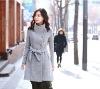 FY24298 woman elegant wool winter coat in style Korea-grey