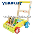 animal wooden baby walker for kids