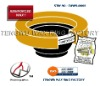Urethane reinforced toilet bowl wax ring gasket