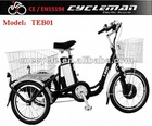 Electric tricycle with Li-ion battery & 250W motor