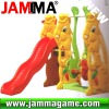 hot and funny outdoor playground baby rabbit slide and swing