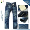Factory wholesale 100% cotton man straight jeans 8810#