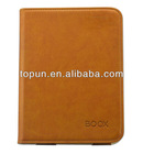hot pressing brow PU case for E-reader book