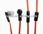 Good quality 3.5mm stereo mobile earphone for iphone 4 with remote and mic