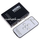 5 Port HDMI Splitter for HDTV PS3 DVD with IR Remote
