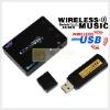 Black mini FM Newest Receiver Set (with MIC out) Wireless Audio Transfer WA003