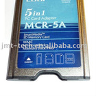 5 in 1 card reader PCMCIA Adapter For SD MMC MS SM MS PRO