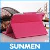 PU Leather stand cover case for iPad mini Lichee Pattern for ipad mini