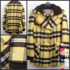 lady double breasted trellis pattern coat