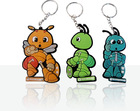 Cartoon design soft pvc key chain