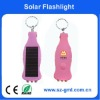 3 LED Keychain Mini Solar Energy Flashlight