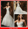 BG69 Ivory Mermaid Embroidered Wedding Bridal Dress 2013