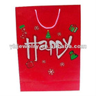 carrier paper shopping bag red paper hand bag custom paper shopping bag / carrier bag recycled kraft paper carrier bag