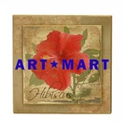 Decorative Wall Plaque, Double Layer Wall Plaque, Hibiscus Wall Plaque
