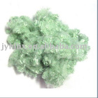 green color short polyester fiber export 3d*51mm