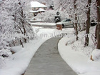 outdoor snow and ice melting heating mat