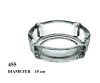 10cm high quality round clear glass ashtray