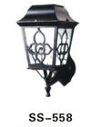 0.7w Aluminum garden gate light Solar Outdoor Wall Light