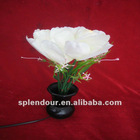 Flashing fiber LED Chirstmas white rose flower light