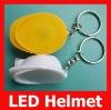 Plastic LED Helmet Keychain for promotional Gift