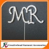 MR rhinestone cake topper