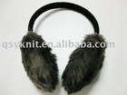 ladies Browm rabbit fur ear muffs QSY15011