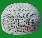 Stock White Crochet Muslim Prayer Cap, Arabian Caps (8194-2)