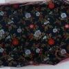 silk satin brocade fabric with flower design for garment