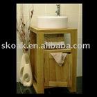 solid american white oak bathroom cabinet