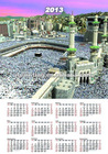 3d wall calendar 2013
