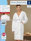 LADIES' BATHROBE MICROFIBRE BATHROBE WHITE COLOR BATHROBE (EV33694)