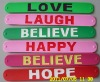 Promotional factory price variety of colors clap silicone bracelet
