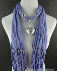 women's pendant necklace scarf jewelry