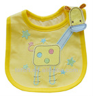 Cotton yellow animal pattern baby bib wholesale