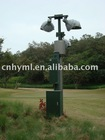 heavy-duty telescopic lighting mast pole and vertical mounted mast tower