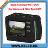 Multi-Function WiFi DVR Camera 1080P 5.0MP working as Car DVR Camera & Sport Camera
