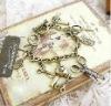 Euramerican Fashion Vintage pashmina forfex air blower pendant bracelet jewelry