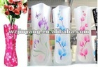 promotional PVC foldable flower vase for home decoration
