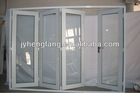 Four panels folding windows and doors with outward and inward opening,big panels doors large opening type
