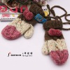 Fashion Acrylic Knitted Winter Glove With Sling
